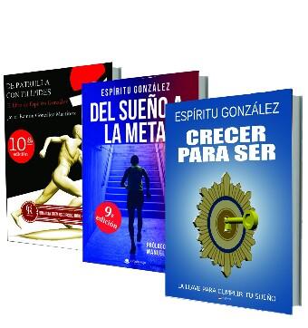 Libros Crecer para ser, Del sueño a la meta y De patrulla con filipides