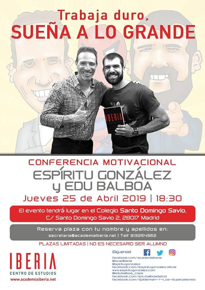 Conferencia Motivacional Archivos Espíritu González